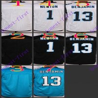 football jersey blank - 2016 Elite Football Stitched Panthers Blank Newton Benjamin White Black Blue Jerseys Mix Order