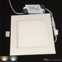 Wholesale Top quality LED Panel Light SMD2835 Ultra Thin Led Panel Downlight w Square LED Ceiling Recessed Light AC85 V