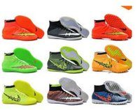 Wholesale High Ankle MercurialX Proximo Str Phantom FG Soccer Shoes Superfly Hypervenom Indoor TF IC Football Boots size
