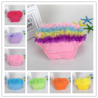 Wholesale Baby Shorts Girl Bloomers Diaper Cover Newborn Ruffled Panties New Infant Toddler For Lovely years Colors Short Pants TL174