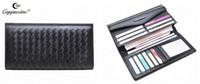 Wholesale 2016 new European leather summer long wallet female Korean fashion sheepskin woven wallet wallet card multi hasp simple tide