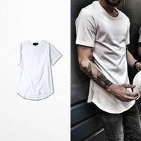 big bang clothing - Long Tee Down Arc Style t shirt Hip Hop Kanye west Skateboard Brand Clothing solid Cotton Justin bieber Orologio GD Big Bang