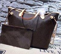 al por mayor bolsas de cuero con cremallera-.1: 1 diseñador de calidad de cuero genuino se oxida nunca / fulls mm / gm mujeres bolsa con desmontable con cremallera embrague Bolsas de hombro