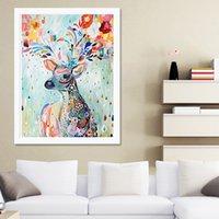 Wholesale Romantic Fantasy Deer D DIY Diamond Rhinestone Painting Crystal Home Decor Educational Drawing Toy Cross Stitch Pattern