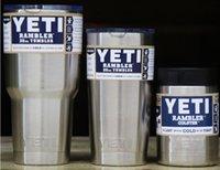 Wholesale 50pcs DHL Yeti oz oz oz Cups Cooler YETI Rambler Tumbler Travel Vehicle Beer Mug Double Wall Bilayer Vacuum Insulated silver