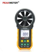 anemometer electronics - PEAKMETER MS6252A Multifunction Digital Anemometer Handheld LCD Electronic Wind Speed Air Volume Measuring Meter With Backlit