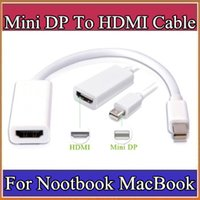 Wholesale Thunderbolt Mini DisplayPort To HDMI Adapter Display Port Hub Male Female DP Cable Converter For iMac Macbook Pro Air Laptop B PS