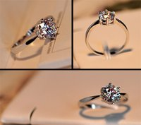 Wholesale Solitaire wedding Ring Love Charm Rings gemstone rings Sterling Silver Plated Dstainless steel ring iamond Rings For Women