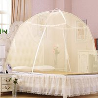 Wholesale Heightening Mongolian Yurt Net dome Automatically Open Mosquito Nets Students Free Installation Summer Bi parting Nets Free Installation