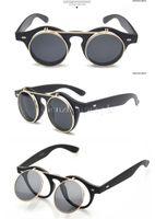Wholesale aevogue vintage round designer sunglasses women Unisex flip reflection lens glasses brand sun glasses UV400 CE DT0255