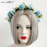 Wholesale High quality fashion women blue flower headband bridesmaid dresses ribbons hairband wreath hair accessories hair hoop head ornaments FD