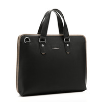 Wholesale 2016 Brand New Men Leather Business Bag Laptop Briefcase Crossbody Shoulder Bag Travel Handbag Designer Dressed Bag