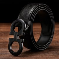 Wholesale 2016 latest button of eight belt male leather smooth business casual belt men s belt
