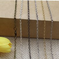 Wholesale Multicolor Inch O Sweater Chain mm Lobster Clasp Jewelry Accessories Chain For Diffuser Floating Locket Necklace