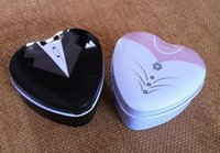Cheap Bride groom Mint tin wedding favor box 150PCS LOT dressed to the nines wedding candy box 1202#02