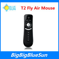 android stick computer - 2 G Wireless Gyroscope Fly Air Mouse T2 Mice Android Remote Control D Motion Stick Combo Computer Peripheral For Android TV Box