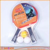 Wholesale Long Handle Table Tennis Rackets Sets Pimples in Rubber Bat for Kids Training Low Price Racket With Retail Packaging