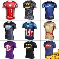 Marvel super heroes España-Hot sale Marvel Comics Superhéroes Superhéroe Superman Capitán América Batman Iron Ropa de los hombres Trajes Trajes Camisetas