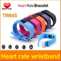 Wholesale TW64S Smart Bracelet with Heart Rate Tracker Waterproof Bluetooth Smart Watches Sports Wristband Fitness Smartband TW64 update