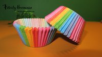Wholesale 100 set Colorful Cupcake Greaseproof Paper Liners Muffin Cases Cup Cake Baking Tarts Tray Party Accessories Pastry Decorating Tools