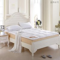 Wholesale new queen size bed White Thickening folding luxury Duck Down Mattress Topper cotton shell duck down filling quilted
