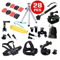 Wholesale GoPro accessories in Family Kit Go Pro SJ4000 SJ5000 SJ6000 accessories set package for GoPro HD Hero