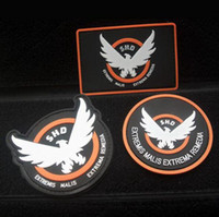 badge tape - 3D Morale military Patches PVC Patch The Division SHD Wings PVC patch with magic tape armband outdoor badge GPS Tactical Rubber Patch