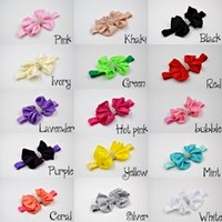 big props - Big Bow Baby Headband with Floral bow Rhinestone Hair Accessories Elastic Newborn Photography Props QueenBaby