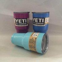 Wholesale Yeti oz oz Rambler Tumbler Bilayer Stainless Steel Insulation Cup OZ colors Cups Cars Beer Mug Large Capacity Mug Tumblerful