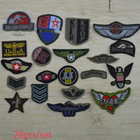 Wholesale New Arrival Cartoon DIY Embroidery Military Patches Badges Iron Sew On Handmade Fabric Stickers Cloth Accessories