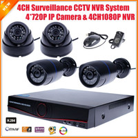 Wholesale Russian Portuguese Multi Language IP Camera System CH Network Surveillance Security NVR CCTV System Kit IP Camera CH CCTV NVR