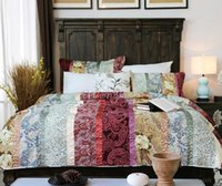 american country quilts - American country style cotton quilt mediterranean style bedding set applique patchwork bedspread set