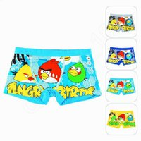 baby knickers - LJJG134 Cartoon angry bird Baby briefs Boxers Children kids Underwear Soft breathable antibacterial underpants knickers