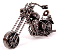 Wholesale 2016 Hot Sale Desktop Decoration Handmade Iron Motorcycle Model Motorbike Metal Crafts Christmas Gifts Souvenirs m33