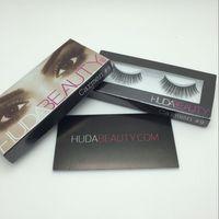 Wholesale Stock ready Huda Beauty False Eyelashes Messy Cross Thick Natural Fake Eye Lashes Professional Makeup Beauty