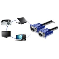 Wholesale VM high definition dual magnetic head blue VGA cable core m computer cable projector displays video data signal lines