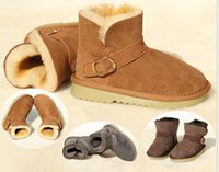 Wholesale Kids snowboots Australia imported sheepskin wool one ankle boots thicken warm snowboots cm shoes length