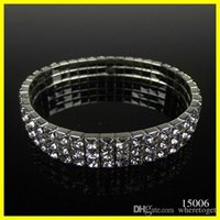american homecoming - 2016 Cheap Row Stretch Bangle Silver Rhinestones Cute Prom Homecoming Wedding Party Evening Jewelry Bracelet Bridal Accessories
