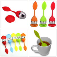 Wholesale Fashion Stainless Steel Silicone Ball Leaf Tea Infuser Colorful Tea Strainer New Creative Silicone Tea Filter Kitchenware
