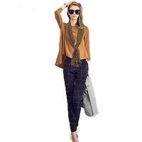 Wholesale Early autumn new suit large size women fashion two sets of leisure pants blouse