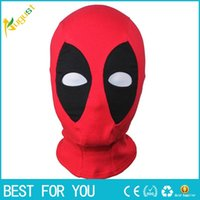 Wholesale New hot PU Leather Deadpool Masks Superhero Balaclava Halloween Cosplay Costume X men Hats Headgear Arrow Party Neck Hood Full Face Mask