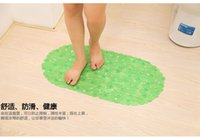 Wholesale DHL SF Anti Bacterial anti slip Pebble Tub Mats solid stone shower mats healthy safe practical pebble tub mats for bathroom
