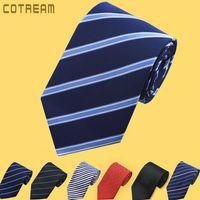 Precio de Lazo formal de color rosa-Corbata para hombre de negocios formal rosa azul negro 35 rayas de color para hombre corbata Corbatas para hombre y mujer