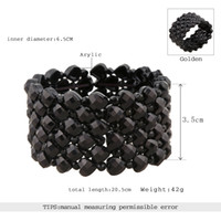 Wholesale 2016 hot black vogue bracelet with acrylic fashionable and modern for unisex