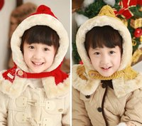 Wholesale Winter Long Section Children Warm Knit Hat Hooded Cape Children A Variety of Colors
