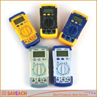 Wholesale LCD Digital Multimeter Voltmeter Ammeter Ohmmeter hFE Tester w Date Hold Battery Test Diode and Continuity Test
