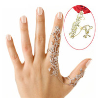 Cheap Fashion European Style Multiple Finger Stack Knuckle Band Crystal Set Women Jewelry