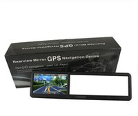 Wholesale 4 Inch GPS Rearview Mirror with bluetooth AV IN GB load D MAP