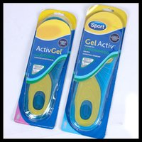 Wholesale 1 pair MAN Woman sholl GEL ACTIV soft silicone damping insoles natural latex insoles sholl Sport shoe pad