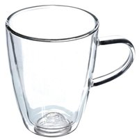 Wholesale Hot Sale Hight Quality mL Clear Handmade Heat Resistant Double Wall Glass Tea Coffee Drink Mug Cup